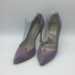 CHINESE LAUNDRY LAVENDER SUEDE LEATHER HEEL SH10